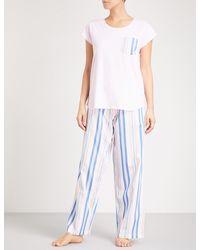 PETER ALEXANDER - Pink Bed Stories Cotton Pyjama Set - Lyst