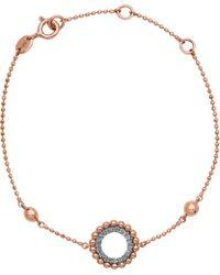 Links of London - Black Effervescence 18ct Rose Gold And Diamond Bracelet - Lyst