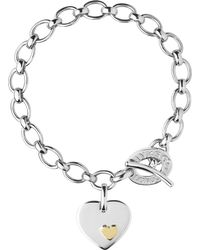 Links of London - Metallic Heart Sterling Silver Charm Bracelet - Lyst