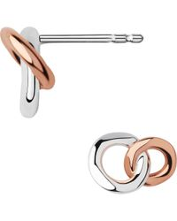 Links of London - Metallic 20/20 Sterling Silver And 18ct Rose Gold-plated Stud Earrings - Lyst