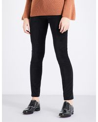 Claudie Pierlot - Black Velvet Skinny High-rise Jeans - Lyst