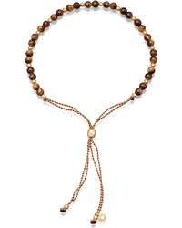 Astley Clarke - Metallic Biography Tiger's Eye 18ct Gold-plated Beaded Bracelet - Lyst