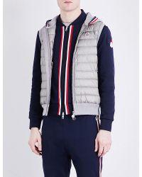 Moncler | Gray Shell-panel Knitted Gilet for Men | Lyst