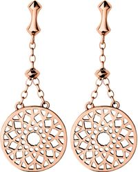 Links of London - Pink Timeless 18ct Rose-gold Vermeil Earrings - Lyst