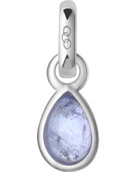 Links of London - Blue December Sterling Silver And Tanzanite Mini Birthstone Charm - Lyst