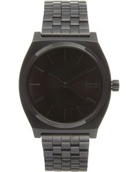 Nixon | Black Time Teller Metal Watch for Men | Lyst