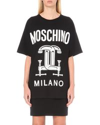 Moschino | Black Logo-print Cotton T-shirt | Lyst
