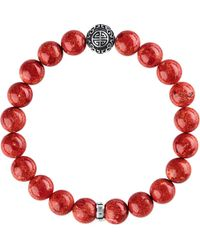 Thomas Sabo - Red Rebel At Heart Sterling Silver Bracelet - Lyst