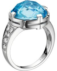 BVLGARI | Blue Parentesi 18kt White-gold | Lyst