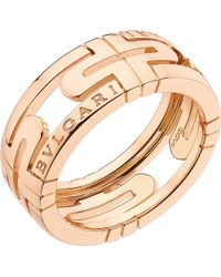 BVLGARI - Parentesi 18kt Pink-gold Ring - Lyst