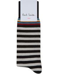 Paul Smith   Black Multi-stripe Cotton Socks for Men   Lyst