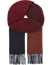 Paul Smith - Red Dégradé Reversible Lambswool Scarf - Lyst