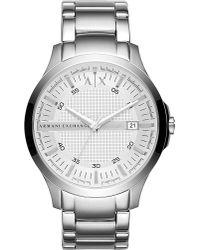 Armani Exchange | Metallic Ax2177 Hampton Stainless Steel Watch | Lyst