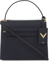 Valentino - Blue My Rockstud Grained Leather Satchel - Lyst