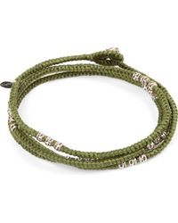 M. Cohen - Green Knotted 4 Layer Thai Stamp Wrap Bracelet for Men - Lyst
