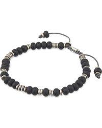M. Cohen | Black Monarch Templar Sterling Disc And Labradorite Bracelet for Men | Lyst