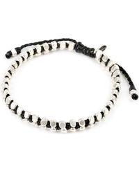 M. Cohen - Black Vertebrae Silver Bracelet for Men - Lyst