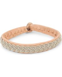 Maria Rudman - Natural Pewter Woven Bracelet - Lyst