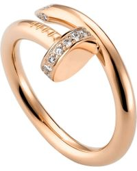 Cartier | Juste Un Clou 18ct Pink-gold And Diamond Ring | Lyst