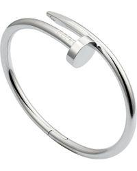 Cartier | Metallic Juste Un Cou 18ct Rhodium Plated White-gold Bracelet | Lyst