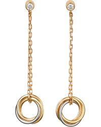 Cartier | Metallic Sweet Trinity 18ct Gold And Diamond Earrings | Lyst