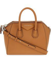 Givenchy - Brown Antigona Mini Leather Tote - Lyst