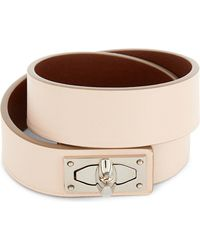 Givenchy | Natural Double-wrap Shark Tooth Leather Bracelet | Lyst