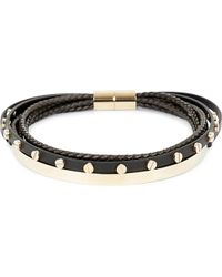 Givenchy | Black Multi-row Leather And Brass Choker | Lyst