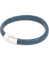 Tateossian | Blue Cobra Leather Bracelet for Men | Lyst