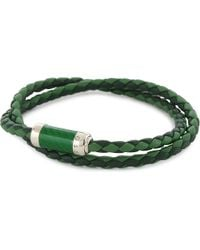Tateossian | Green Montecarlo Woven Leather Bracelet for Men | Lyst