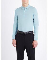 20c0184e John Smedley Bradwell Knitted Polo Jumper in Blue for Men - Lyst