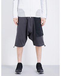 Y-3 | Black Cotton-jersey Shorts for Men | Lyst