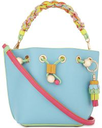 Sophia Webster - Blue Romy Mini Leather Bucket Bag - Lyst