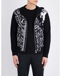 Versus  | Black Logo-print Cotton-jersey Hoody for Men | Lyst