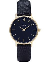 Cluse | Black Cl30014 Minuit Snake-effect Leather And Gold Watch | Lyst