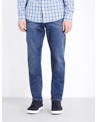 Michael Kors | Blue Slim-fit Tapered Jeans for Men | Lyst