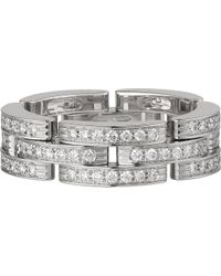 Cartier | Maillon Panthère 18ct White-gold And Diamond Ring | Lyst