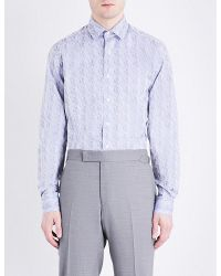Duchamp | Metallic Origami Tailored-fit Cotton-jacquard Shirt for Men | Lyst