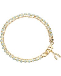Astley Clarke | Blue Wishbone Amazonite Friendship Bracelet | Lyst