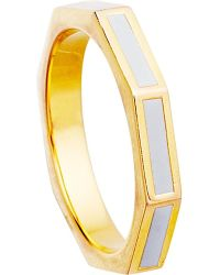 Astley Clarke - Metallic Moonlight 18ct Gold Vermeil Fractal Ring - Lyst