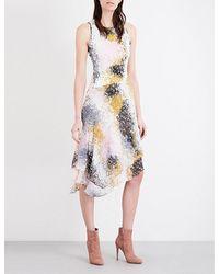Diane von Furstenberg   Multicolor Klarra Silk-jersy And Silk-chiffon Dress   Lyst