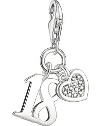 Thomas Sabo | Metallic Lucky Number 18 Sterling Silver And Diamond Charm | Lyst