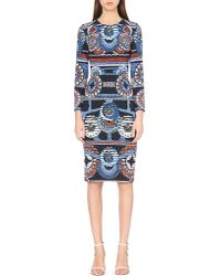 Peter Pilotto | Blue Start Abstract-print Crepe Dress | Lyst