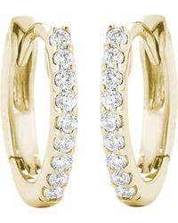 The Alkemistry | Metallic 14ct Yellow Gold And Diamond Earrings | Lyst