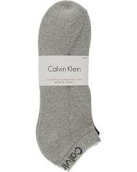 Calvin Klein | White Pack Of Three Trainer Socks for Men | Lyst