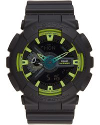 G-Shock - Black Ga-110ly-1aer Oversize Lime Accents Watch for Men - Lyst