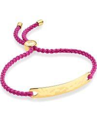 Monica Vinader | Red Havana 18 Carat Rose Gold Plated Vermeil Friendship Bracelet | Lyst