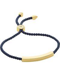 Monica Vinader | Metallic Linear 18 Carat Gold Plated Vermeil Friendship Bracelet | Lyst