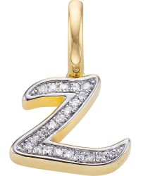 Monica Vinader   Metallic Alphabet 18ct Gold-vermeil And Diamond Pendant   Lyst