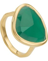 Monica Vinader | Siren 18ct-gold Plated Green Onyx Ring | Lyst